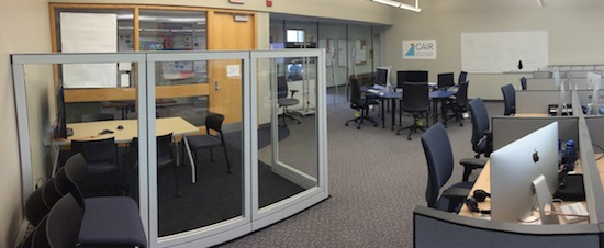 Panoramic photo of the interior of CAIR.